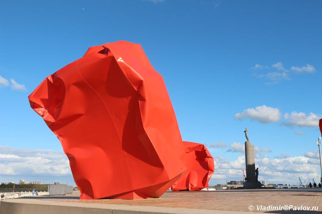 Art obekty na naberezhnoj v Ostende - Бельгия. Остенде (Ostende). Бельгия с палаткой. 12