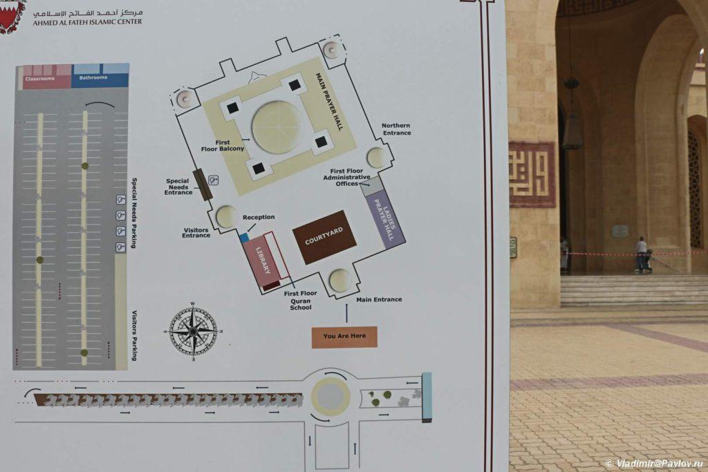 Bahrejn. Plan Mecheti Al Fatih v Maname. Al Fatih Mosque Manama 1024x683 - Соборная мечеть Аль-Фатих в Манаме. Al-Fatih Mosque / Great Mosque