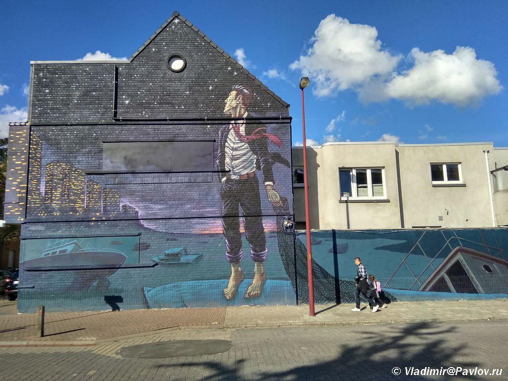 Belgijskie Graffiti v Ostende - Бельгия. Бельгийские комиксы и граффити. 4