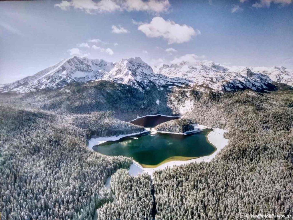 CHyornoe ozero Crno jezero zimoj. Nats. park Durmitor. CHernogoriya 1024x768 - Национальный парк Дурмитор (Durmitor). Черногория