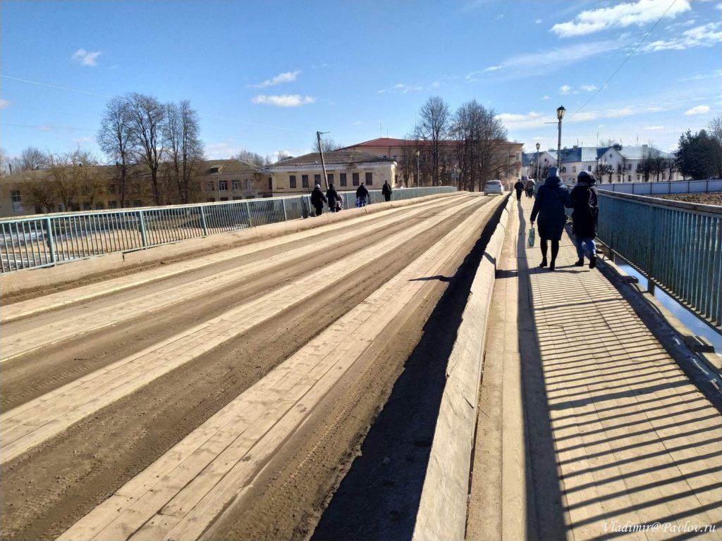 Derevyannj most v Staroj Russe 1024x768 - Старая Русса из Великого Новгорода. Экскурсионный тур на поезде из Москвы