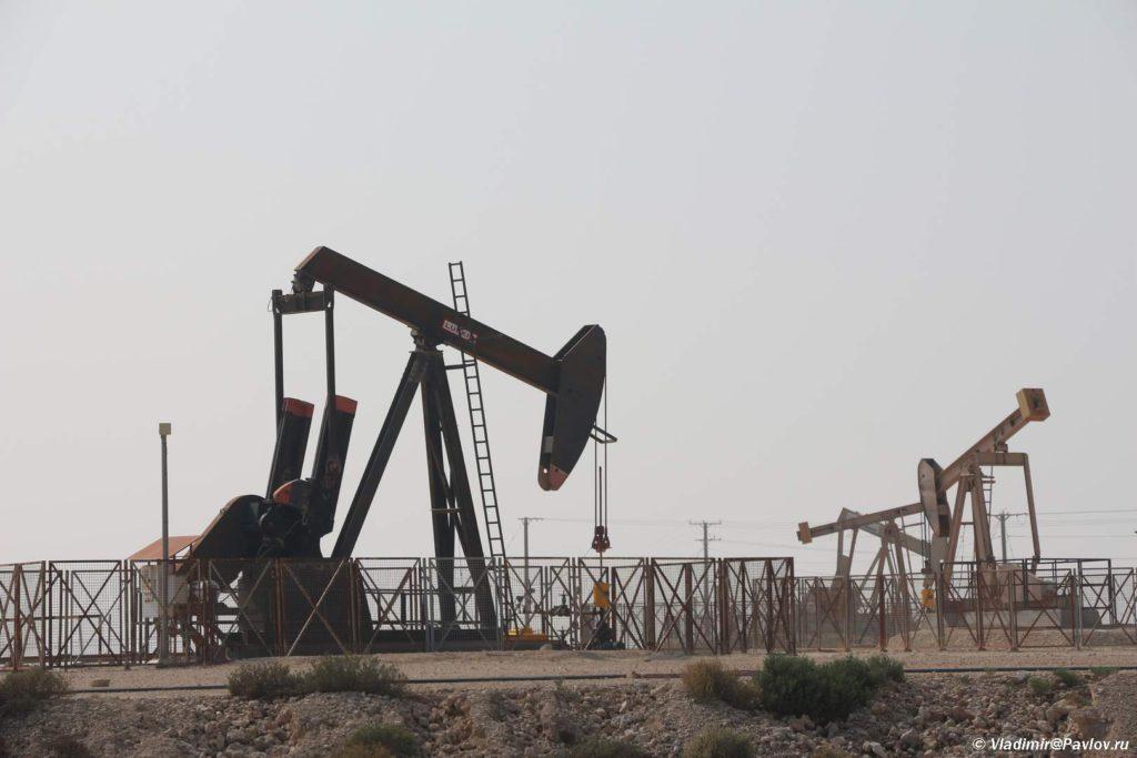 Dobycha nefti nasosami kachalkami. Neftyanoe mestorozhdenie v Bahrejne. Bahrain oil field 1024x683 - Нефть - Черное Золото Бахрейна