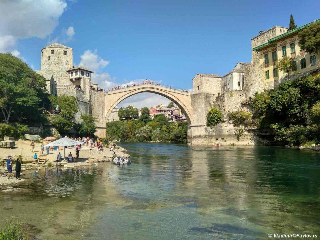 Dostoprimechatelnost Mostara Staryj Most 1024x768 - Старый Мост (Stari most) - достопримечательность в Мостаре (Mostar)