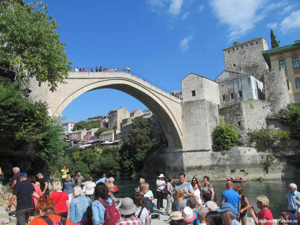 Dostoprimechatelnost Mostara Staryj most. Mostar. Bosniya i Gertsegovina Mostar 1024x768 - Традиции Мостара (Mostar). Прыгуны с моста
