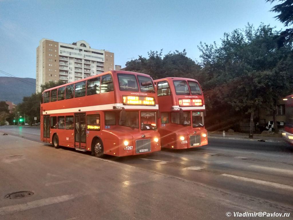 Dvuhetazhnye londonskie avtobusy v Makedonii Skope - Жилье в Скопье. Как добраться из Скопье в Грецию.