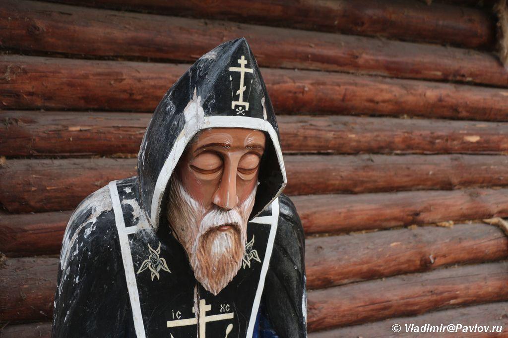 Inok v Mirozhskom monastyre Pskova - Мирожский монастырь в Пскове