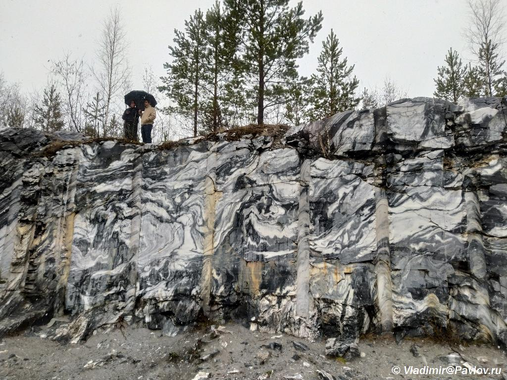 Italyanskij karer v Ruskeale. Gornyj park Ruskeala. Kareliya - Достопримечательность Карелии парк Рускеала