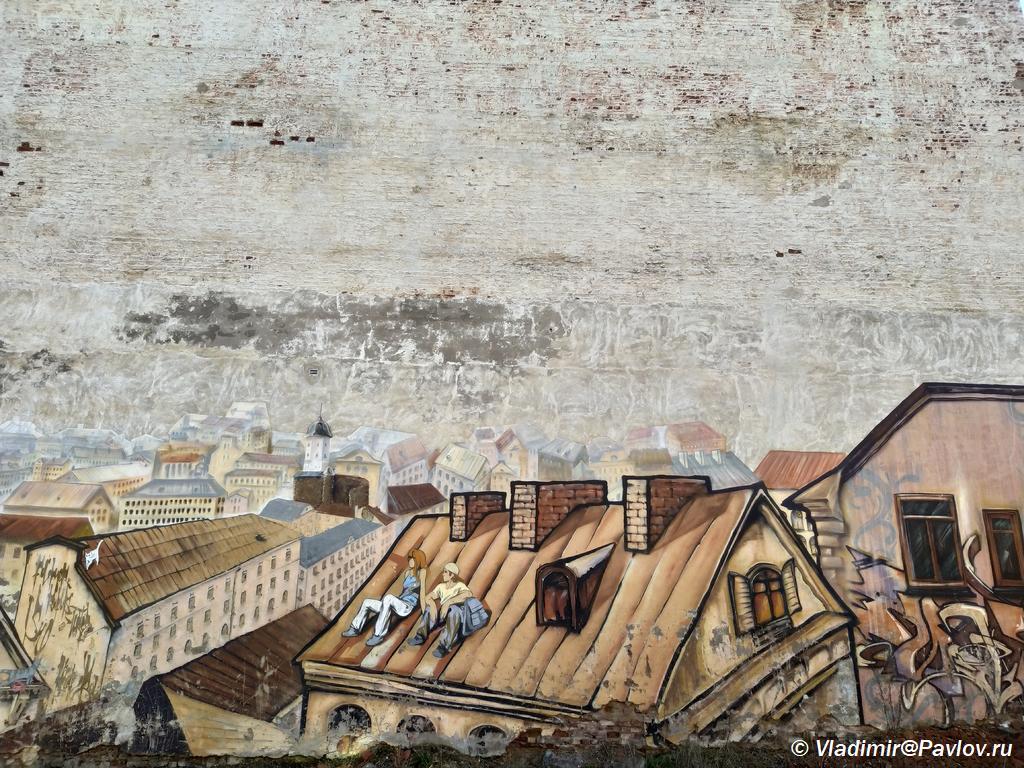 Krasivoe graffiti. Vyborg. Dostoprimechatelnosti - Старый Выборг. Экскурсия по городу