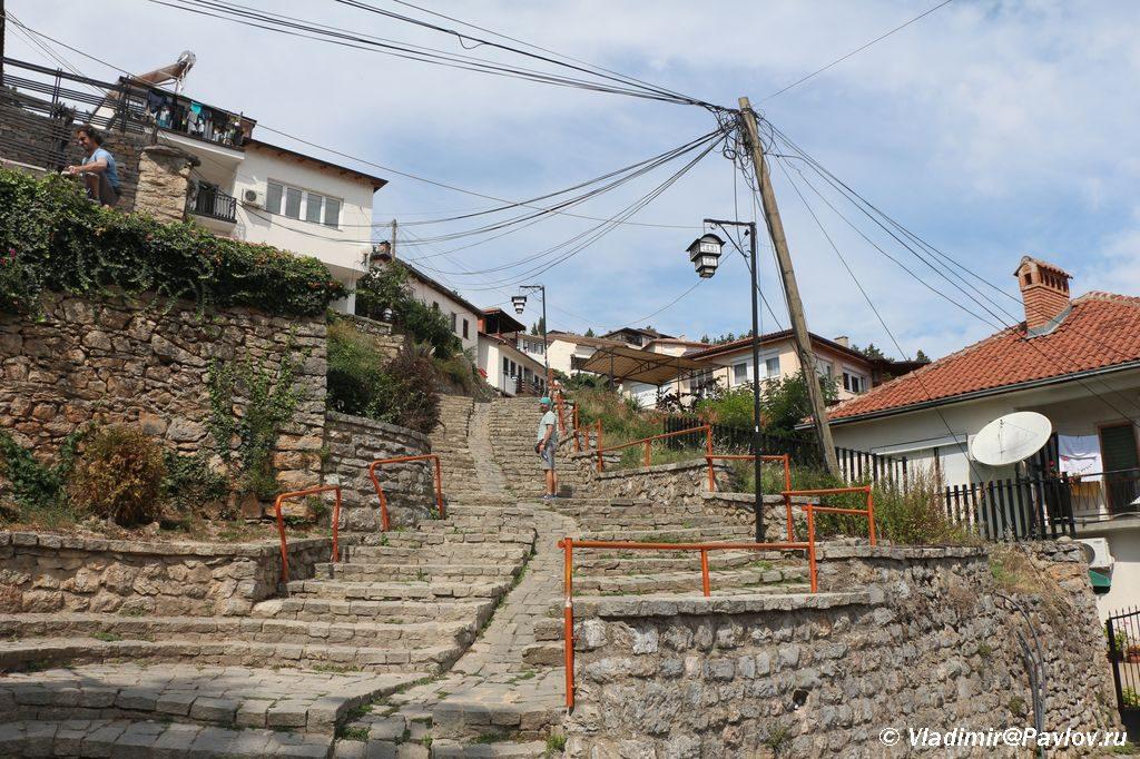 Lestnitsa k Kreposti TSarya Samuila v Ohride 1024x682 - Старый город Охрида. Экотропа. Сила Охридского озера.