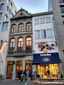 Makdonalds vneshne stilizovannyj pod belgijskij traditsionnyj dom 225x300 - Условия путешествий во времени. Рекомендации для туристов.