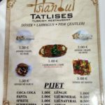 Menyu kafe Istanbul Tatlises v Prishtine. Kosovo. Kosovo. Pristina 150x150 - Продукты, покупки, еда в Приштине. Косово