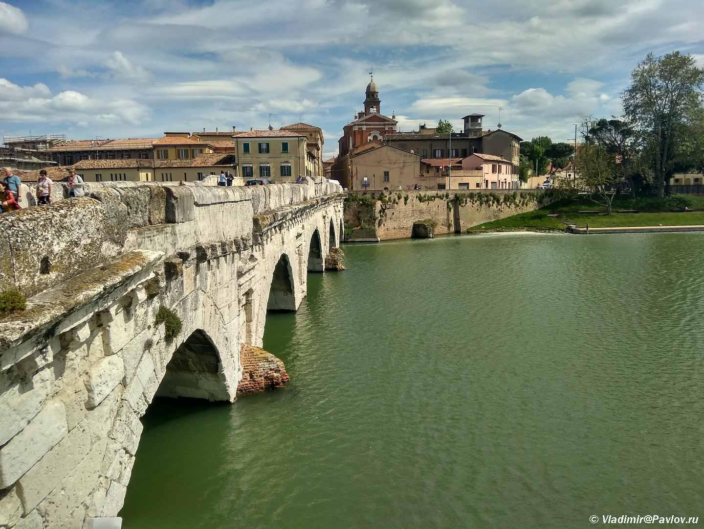 Most Tiberiya v Rimini. Ponte di Tiberio. Rimini - Римини (Rimini). Начало и отправная точка.