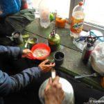 Na Kazbeke drov net gotovim na gazu 150x150 - От Зеленых стоянок до Метеостанции 3700м. Ледник Гергети. 12