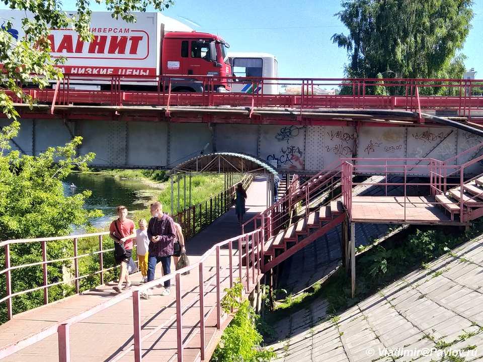 Naberezhnaya Kungura prohod pod Sylvenskim mostom. Permskij kraj - Кунгур. Достопримечательности