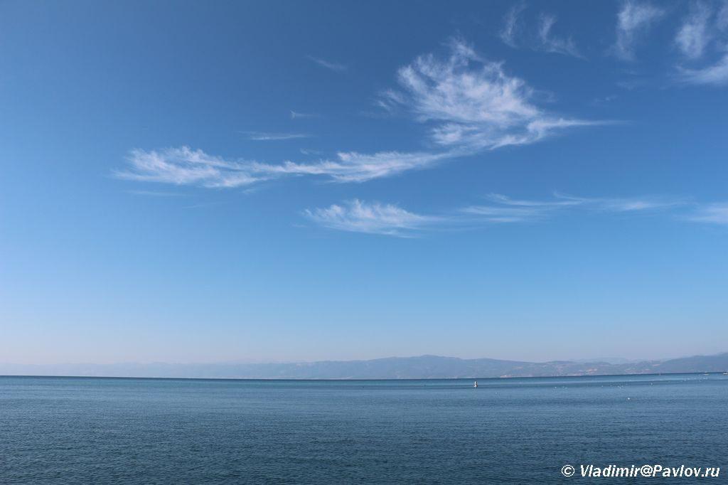 Ohridskoe ozero pohozhe na more. Makedoniya 1024x682 - Жилье в Охриде. Охридское озеро, пляжи.