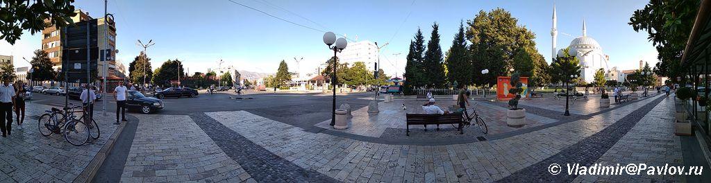 Osnovnaya turisticheskaya ploshhad SHkodera gde raspolozhena Mechet Abu Bekr Xhamia e Madhe - Албания. Шкодер (Shkodër, Shkodra, Скадар).