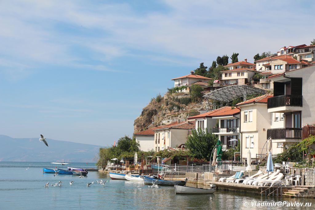 Oteli s vidom na ozero Ohrid - Жилье в Охриде. Охридское озеро, пляжи.