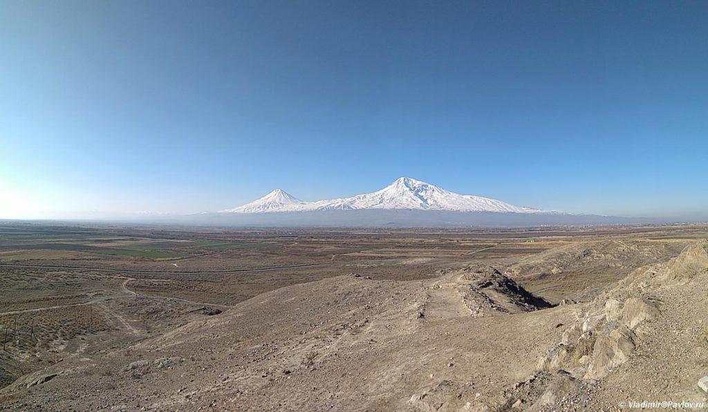 Panorama Ararata iz monastyrya Hor Virap Khor Virap. Armeniya 1024x596 - Гюмри, Армения. Гурджиев. Пончик-мончик. Экспресс. Аэропорт