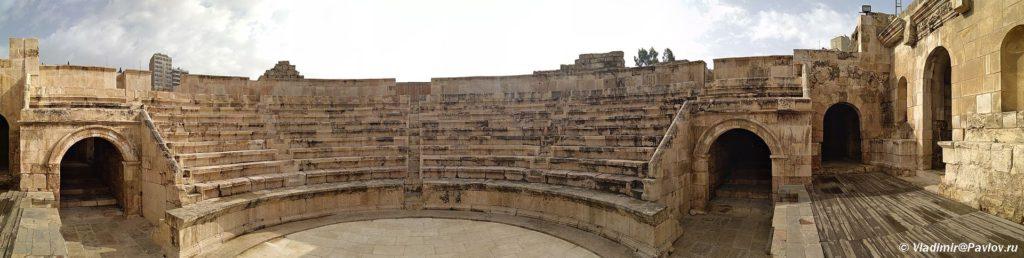 Panorama malogo amfiteatra v Ammane stolitse Iordanii. Amman roman amphitheater Jordan 1024x258 - Столица Иордании Амман. Amman, Jordan.