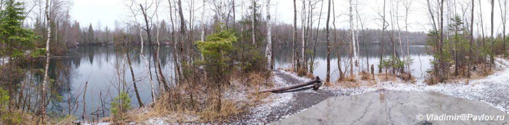 Panorama ozera Svetloe v Ruskeale 1024x253 - Прогулка по парку Реускеала в Карелии. Олень.