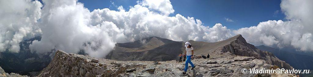 Panorama s perevala Skala Skala 2866 m 1024x252 - Туры на Олимп. Перевал Скала.