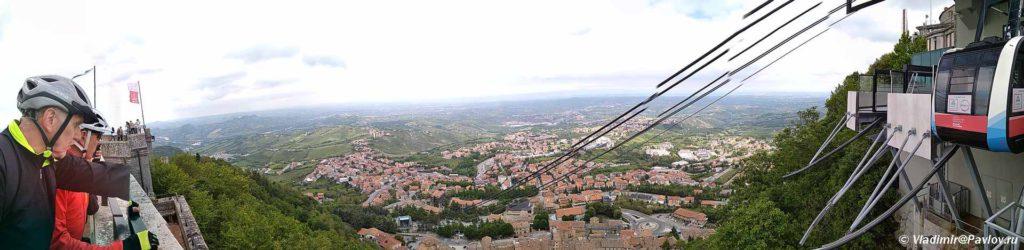 Panorama s verhnej stantsii funikulera v San Marino 1024x250 - Республика Сан Марино. San Marino, Продолжение.