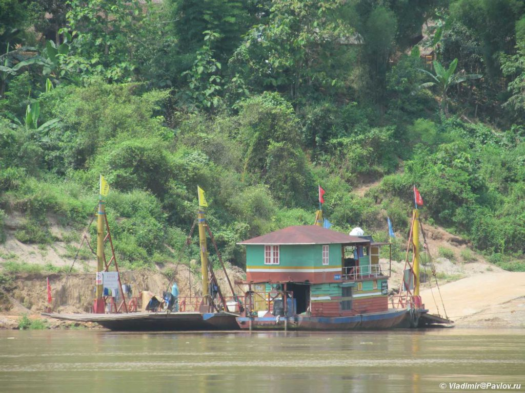 Parom cherez Mekong. Laos. Mekong. Laos 1024x768 - Круиз на лодке по Меконгу