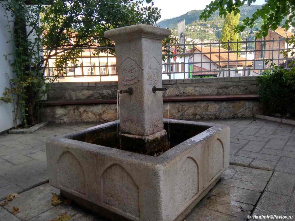 Pitevoj fontan vo dvore mecheti. Saraevo. Bosniya i Gertsegovina Sarajevo 1024x768 - Что посмотреть в Сараево (Sarajevo, Bosnia)