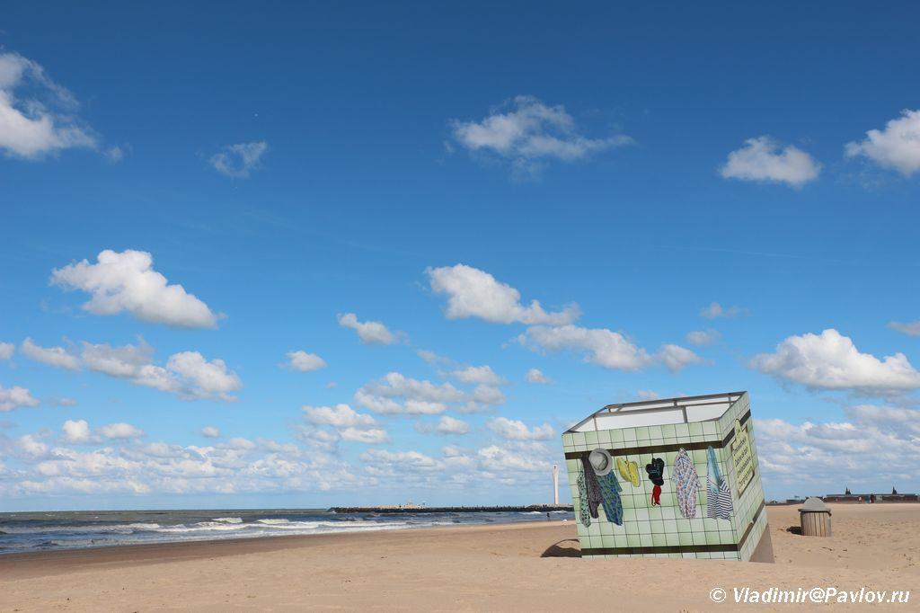 Plyazh v Ostende Belgiya 1024x682 - Бельгия. Остенде (Ostende). Бельгия с палаткой. 12