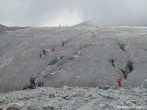 Podem na lednik Gergeti 300x225 - От Зеленых стоянок до Метеостанции 3700м. Ледник Гергети. 12