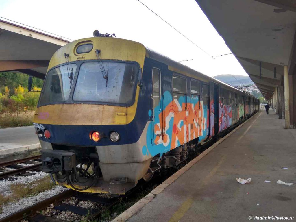 Prigorodnyj poezd bosnijskih zheleznyh dorog. Saraevo. Bosniya i Gertsegovina Sarajevo 1024x768 - Достопримечательности Боснии. Из Сараево в Мостар (Mostar) на поезде