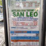 Raspisanie avtobusov Rimini San Leo 150x150 - Сан Лео (San Leo). Экскурсии из Римини.