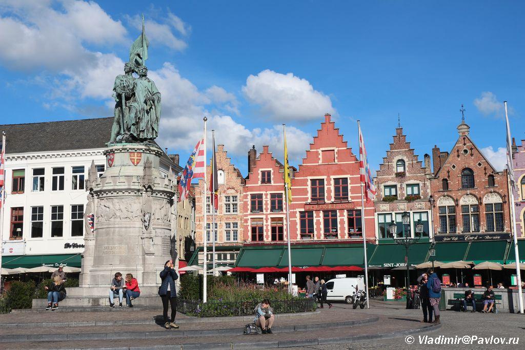 Rynochnaya ploshhad Bryugge - Бельгия. Брюгге. Brugge. 8