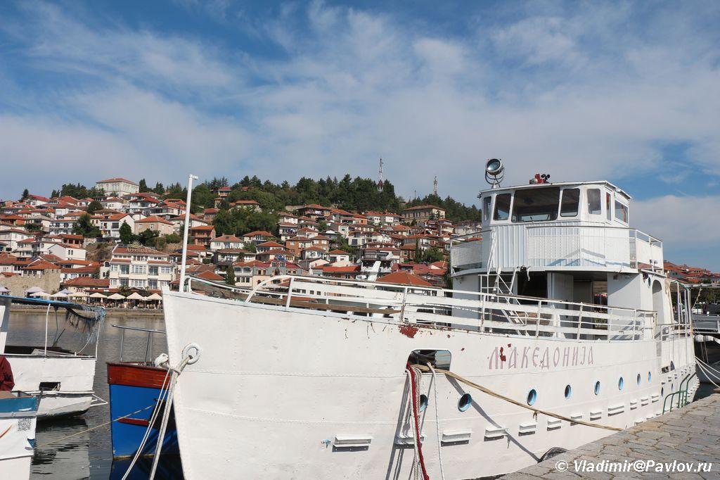 SHhuna Makedonija. Ozero Ohrid - Набережная Охрида. Экскурсии по Охриду на лодках.