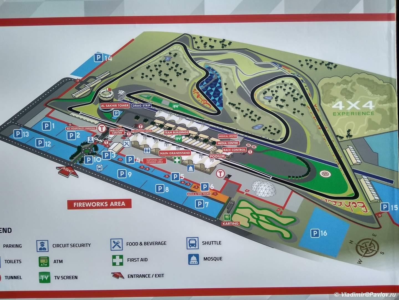 Shema Gonochnoj trassy Formula 1 v Bahrejne. Bahrain International Circuit - Гоночная трасса Формула 1 в Бахрейне. Bahrain International Circuit Formula 1, Sahir
