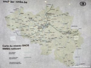 Shema zheleznyh dorog Belgii na frantsuzskom yazyke 300x225 - Бельгия. Антверпен. Языки Бельгии. 3