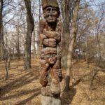Skulptura v gorodskom parke Gyumri. Armeniya 150x150 - Гюмри, Армения. Гурджиев. Пончик-мончик. Экспресс. Аэропорт