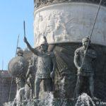 Skulptury fontana Aleksandra Makedonskogo v Skope 150x150 - Достопримечательности Македонии, Скопье.