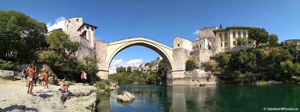 Staryj Most Stari most v Mostare 1024x385 - Прогулка по Мостару (Mostar). Босния и Герцеговина
