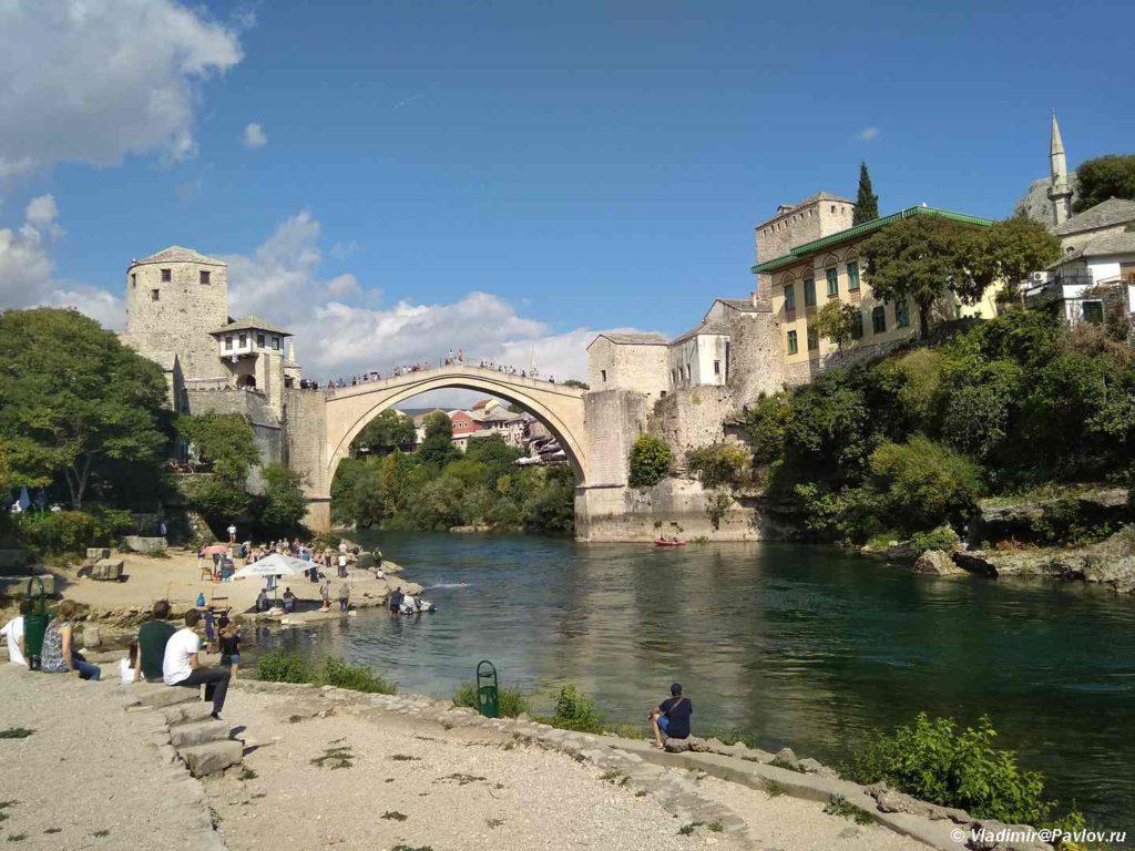 Staryj Most dostoprimechatelnost Mostara. Bosniya i Gertsegovina Mostar 1024x768 - Старый Мост (Stari most) - достопримечательность в Мостаре (Mostar)