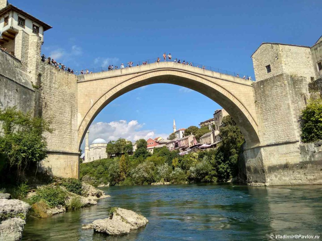 Staryj Most v Mostare udivitelno krasiv. Bosniya i Gertsegovina Mostar 1024x768 - Второе Балканское пришествие. Босния, Черногория, Косово