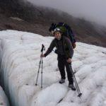 Treshhiny na lednike Gergeti zdes horosho vidny i legko obhodyats 150x150 - Акклиматизация. Стена Хаума. Выход на ледник 4200. 13