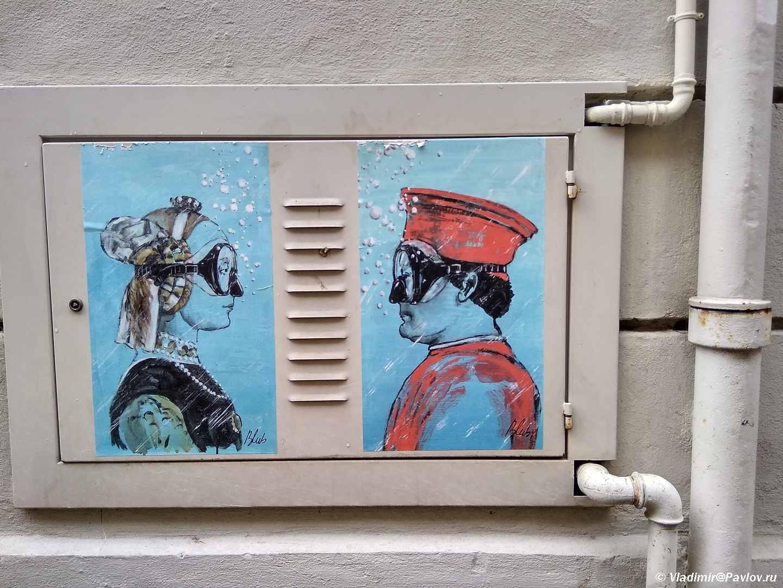 Ulichnoe graffiti v Ravenne. Italiya - Куда съездить из Римини самостоятельно. Что посмотреть. Экскурсии.