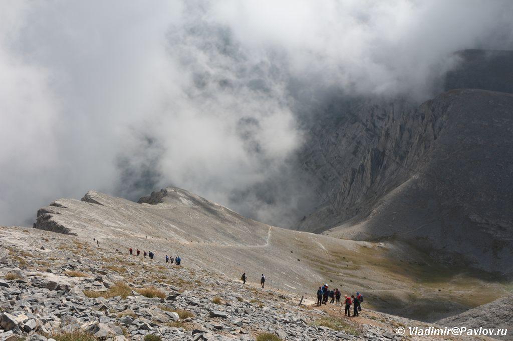 V etot den voshoditelej na Olimp bylo mnogo - Туры на Олимп. Перевал Скала.