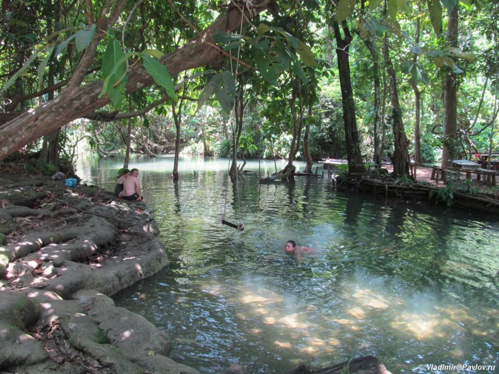 Verhnie vanny vodopada Phu Si Phu Si waterfall. Laos. Dostoprimechatelnosti Luang Prabang. Laos Luang Prabang 1024x768 - Окрестности Луанг Прабанг. Пещера Пхалуеси (Phaluesi Cave). Водопад Пху Си (Phu Si Waterfall)