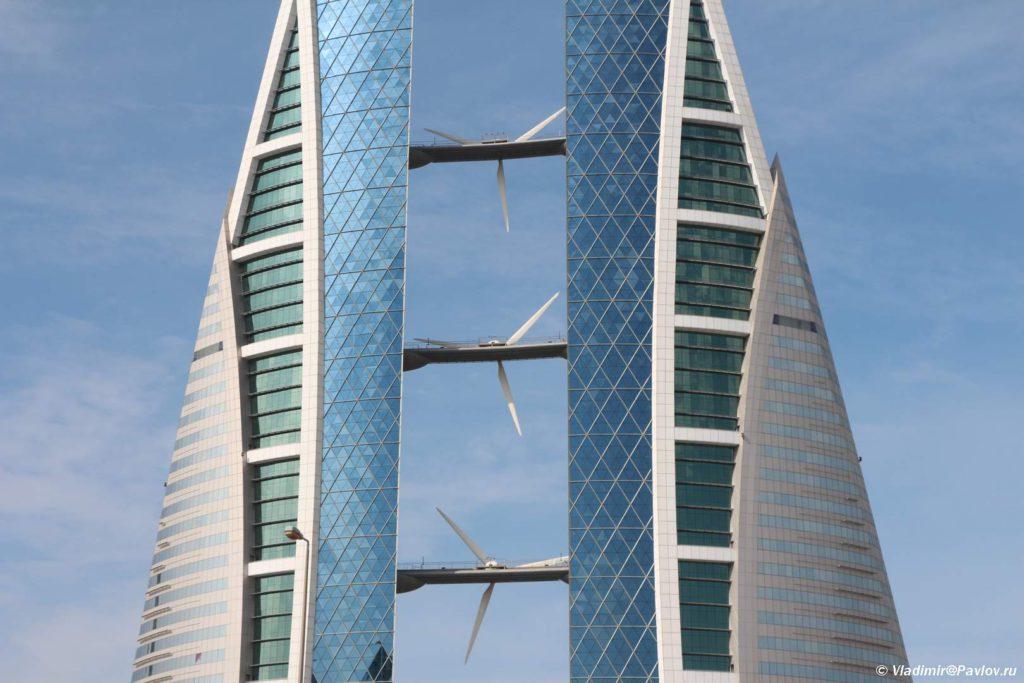 Vetrogeneratory. Bahrejnskij vsemirnyj torgovyj tsentr. Bahrain World Trade Center 1024x683 - Прогулка по столице Бахрейна, Манаме