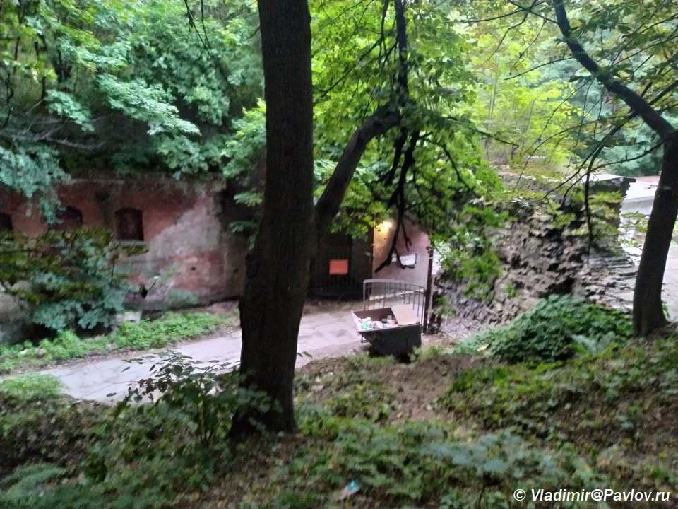 Vhod v Fort SHtile v Baltijske - Достопримечательности Балтийска. 4 форта