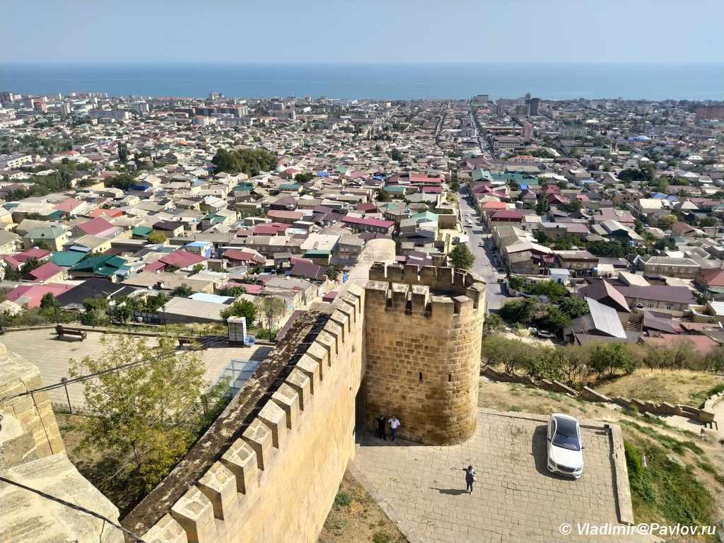 Vid iz krepost Naryn Kala na Derbent - Дербентская крепость