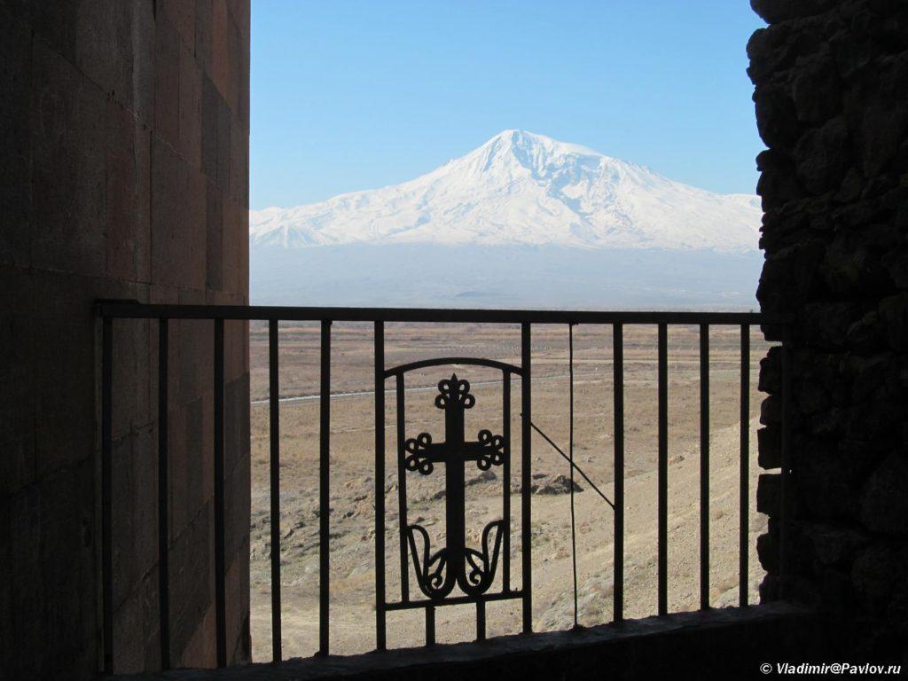 Vid na Ararat iz dostoprimechatelnosti monastyrya Hor Virap. Armeniya 1024x768 - Встреча весны в Армении