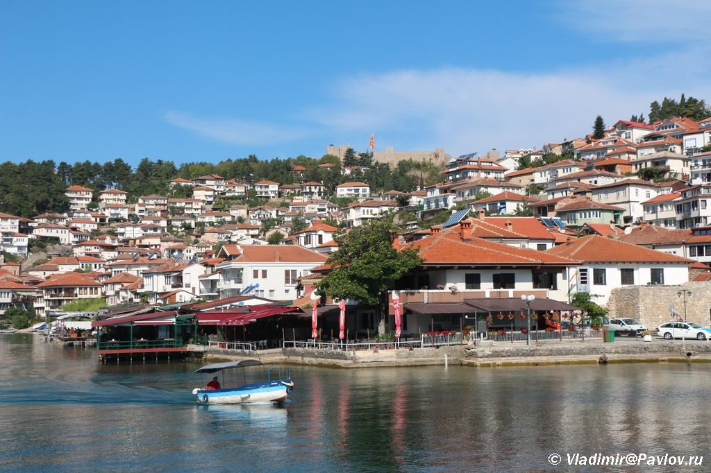 Vid na staryj gorod i krepost Ohrida s ozera 1024x682 - Старый город Охрида. Экотропа. Сила Охридского озера.